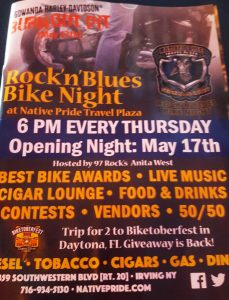 Bike Night Rockn Blues Thursdays at Native Pride 6pm-9pm @ Bike Night Native Pride Travel Plaza | Irving | New York | United States